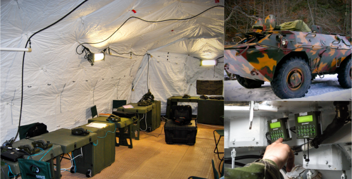 Tactical Operation Center for Mountaineers Battalion